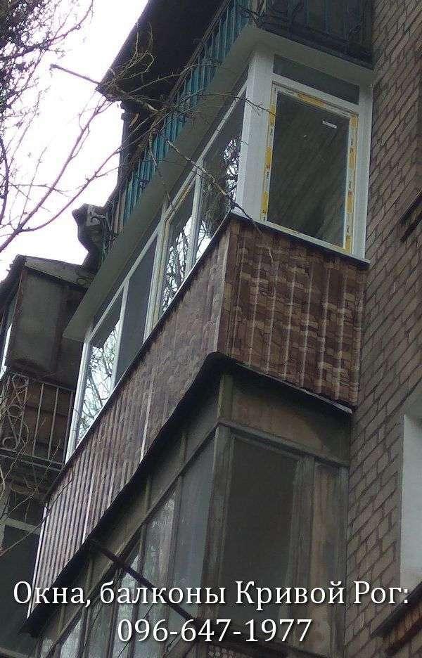 obshivka balkona pod kamen v krivom roge
