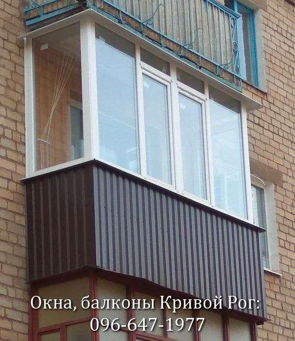 rama na balkon s peremychkoj v krivom roge ot kompanii komfort