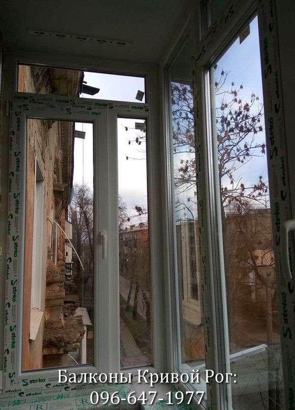 zasteklit balkon cena krivoy rog