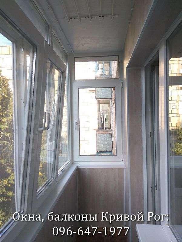 zasteklit balkon lodzhiyu plastikovymi oknami v krivom roge