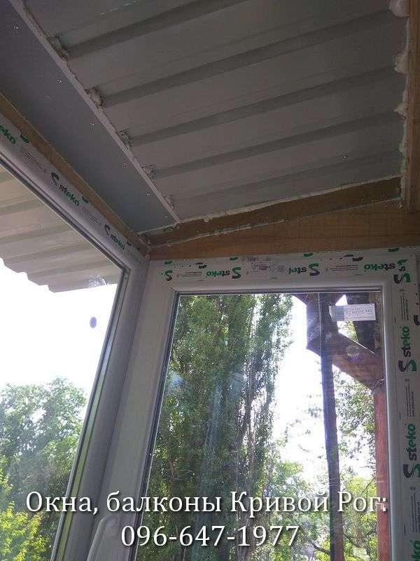 Крыша на металлопластиковый балкон