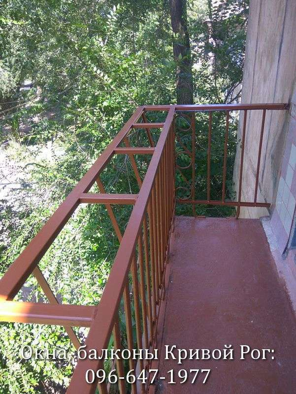 rasshirenie balkona v krivom roge s odnostoronnim vynosom ramy