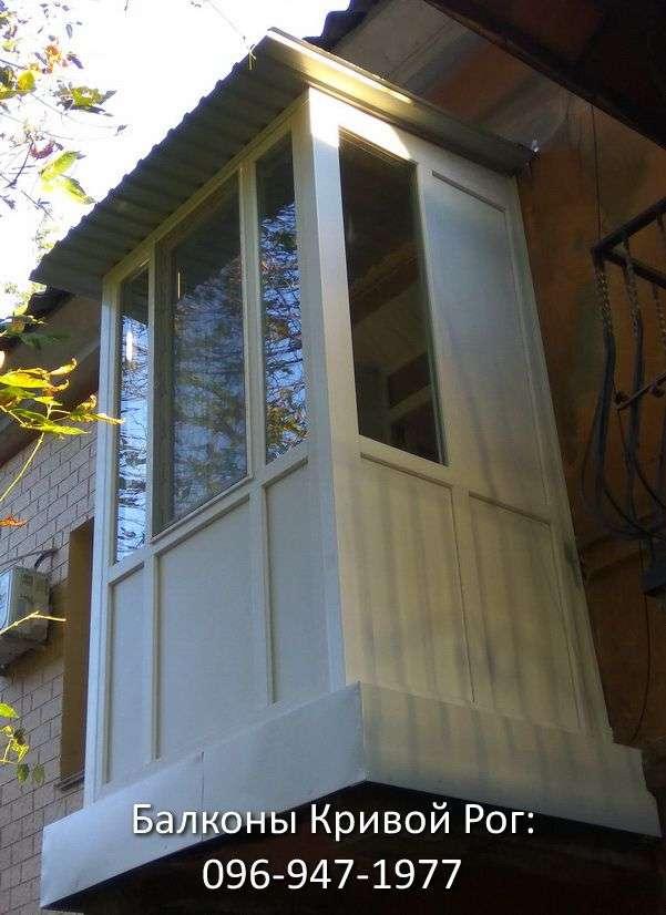 Французский балкон с термопанелью сэндвич