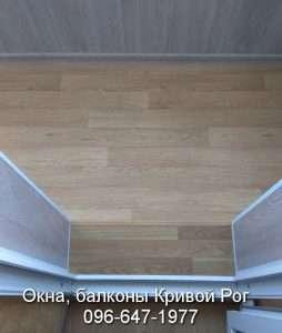 Балконы Кривой Рог - настил пола