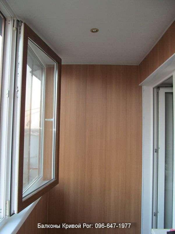 Установка светильников на балкон
