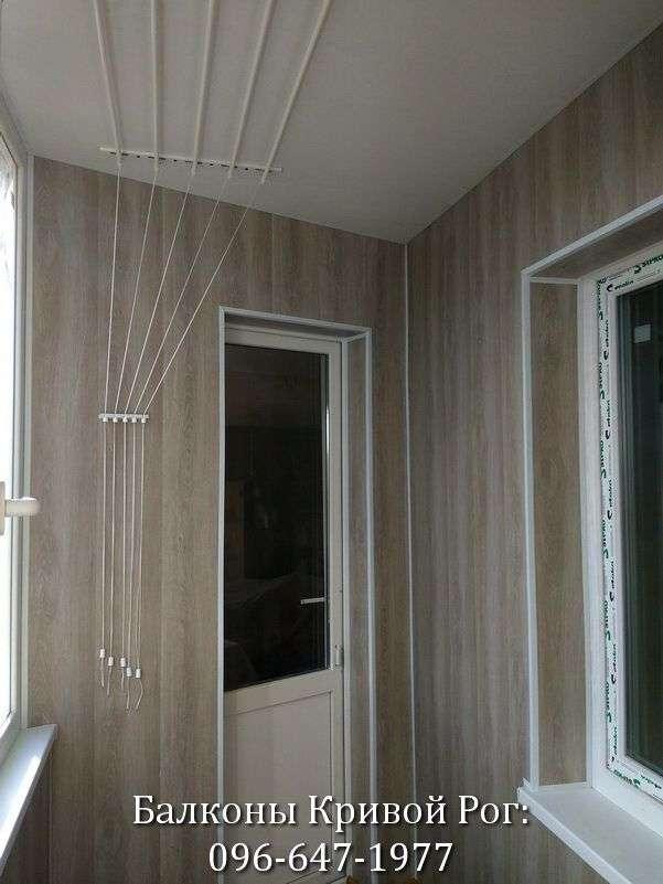 Установка потолочной сушилки на балкон