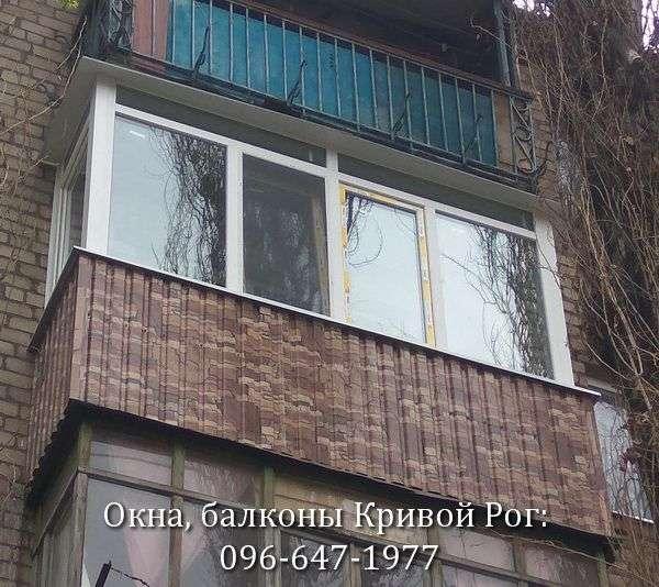 Наружная обшивка балкона под камень