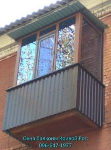 Обшивка балкона профлистом с улицы