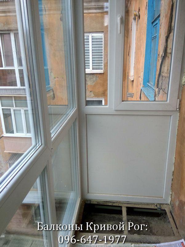 Расширение и укрепление балкона под Французский балкон