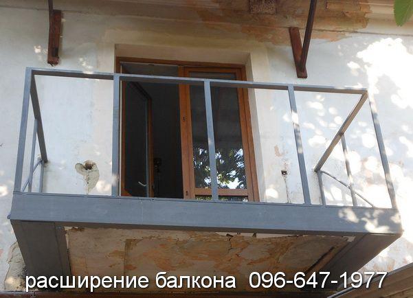 Укрепление плиты балкона вид спереди