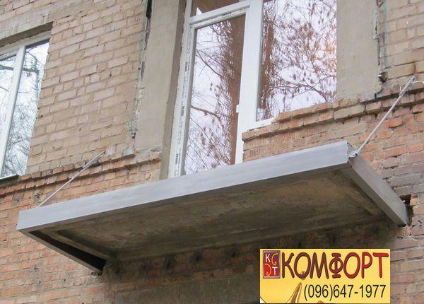 Укрепление плиты балкона швеллером