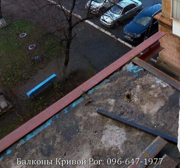 Укрепление и расширение плиты балкона