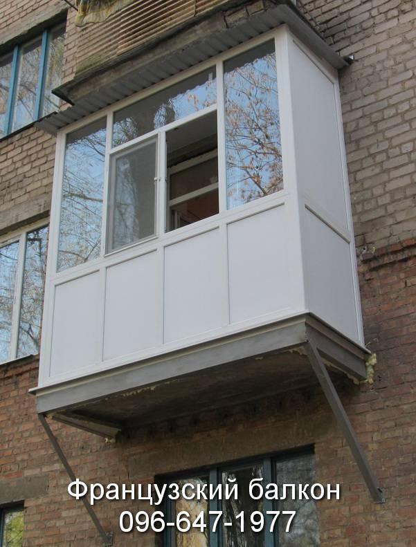 Укрепление плиты балкона под французский балкон